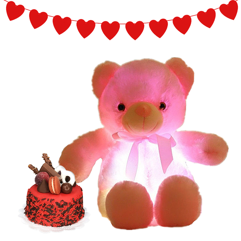 Picture of Light Up Pink Bear Cake Set